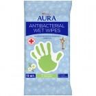 Салфетки влажные Aura, 15*20см, 72шт., антибактериальные