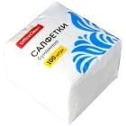 Салфетки бумажные OfficeClean, 1 слойн., 24*24см, белые, 100шт. 234358