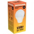 Лампа светодиодная Старт ECO LED GLS E27, 15W40